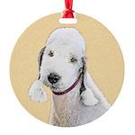 Bedlington Terrier Round Ornament
