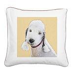 Bedlington Terrier Square Canvas Pillow