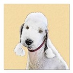 Bedlington Terrier Square Car Magnet 3