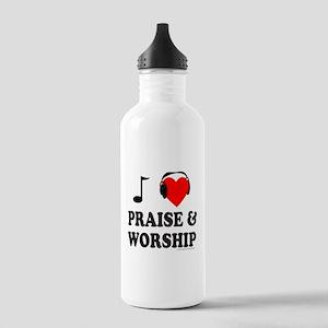 I HEART PRAISE & WORSHIP Stainless Water Bottle 1.