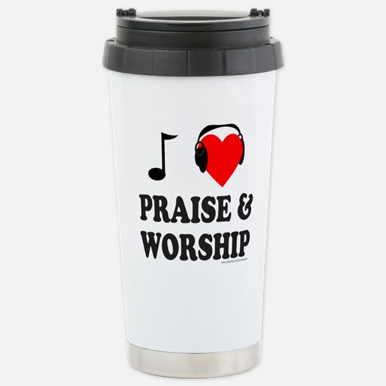 I HEART PRAISE & WORSHIP Stainless Steel Travel Mu