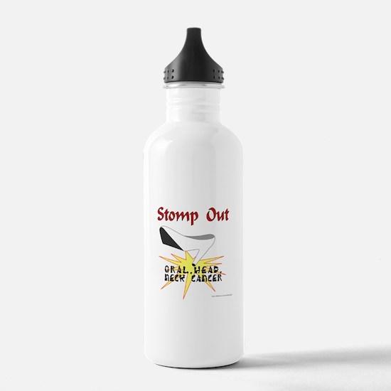 Cute Head neck cancer defiant Water Bottle