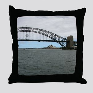 Opera House & Harbor Bridge Throw Pillow