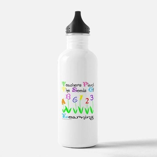 Cute 3rd grade teacher Water Bottle