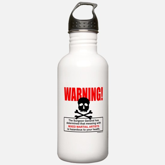 WARNING MMA Water Bottle