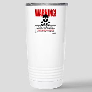WARNING MMA Stainless Steel Travel Mug