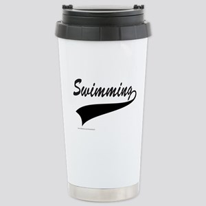 SWIMMING Stainless Steel Travel Mug