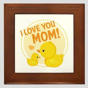 I Love You Mom Framed Tile