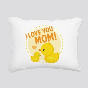 I Love You Mom Rectangular Canvas Pillow