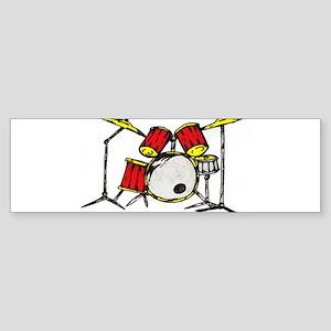 Drum Set Bumper Sticker