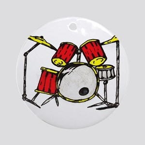 Drum Set Ornament (Round)