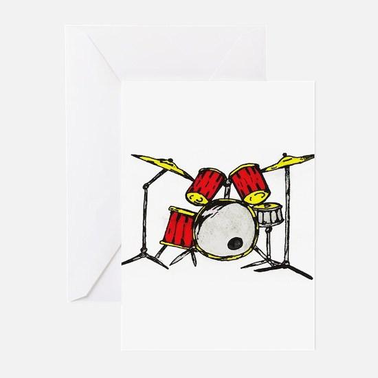 Drum Set Greeting Cards (Pk of 10)