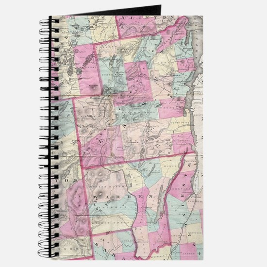 Vintage Map of The Adirondack Mountains (1 Journal