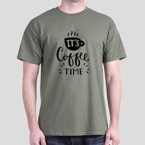 It's Coffee Time Dark T-Shirt