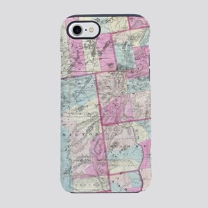 Vintage Map of The Adirondack iPhone 7 Tough Case