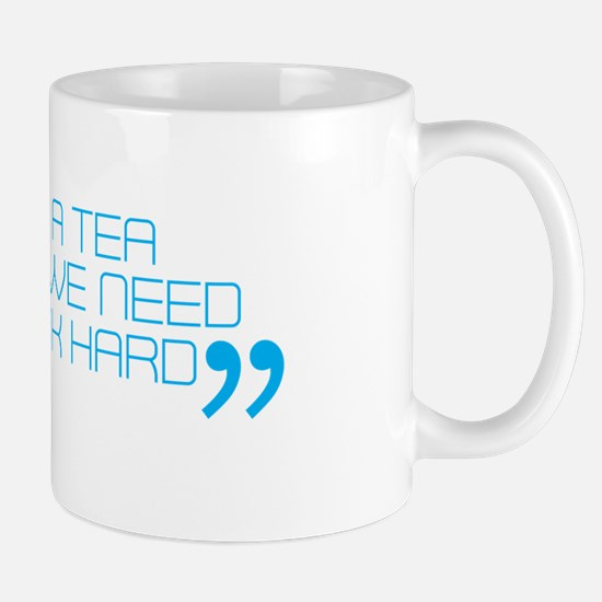 Mark Webber 'Tea Party' quote mug