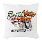 Screamin' Woody Woven Throw Pillow