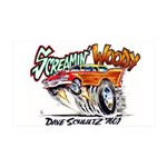 Screamin' Woody 35x21 Wall Decal
