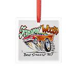 Screamin' Woody Square Glass Ornament