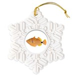 Orange-lined Triggerfish Snowflake Ornament