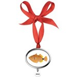 Orange-lined Triggerfish Oval Year Ornament