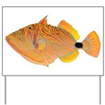 Orange-lined Triggerfish Yard Sign