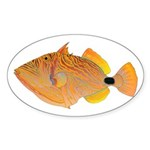 Orange-lined Triggerfish Sticker