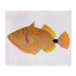 Orange-lined Triggerfish Arctic Fleece Throw Blank