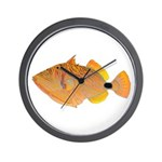 Orange-lined Triggerfish Wall Clock
