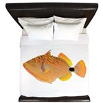 Orange-lined Triggerfish King Duvet