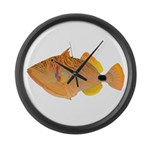Orange-lined Triggerfish Large Wall Clock