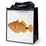 Orange-lined Triggerfish Reusable Grocery Tote Bag