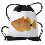 Orange-lined Triggerfish Drawstring Bag
