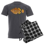 Orange-lined Triggerfish Men's Charcoal Pajamas