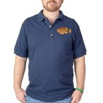Orange-lined Triggerfish Dark Polo Shirt