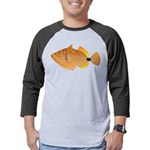 Orange-lined Triggerfish Mens Baseball Tee