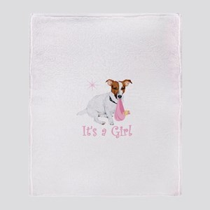 It's a Girl Throw Blanket