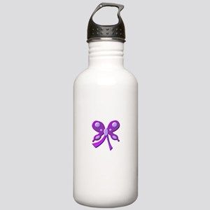 Cure Lupus Butterfly Ribbon Stainless Water Bottle