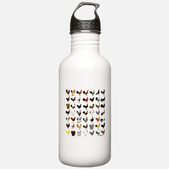 49 Roosters Water Bottle