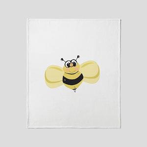 Cheery Bee Rosey Cheeks Throw Blanket