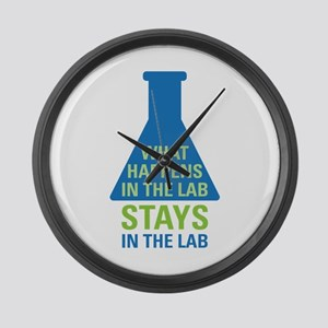 In The Lab Large Wall Clock