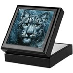 Snow Leopard Keepsake Box