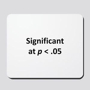 Significant at p < .05 Mousepad