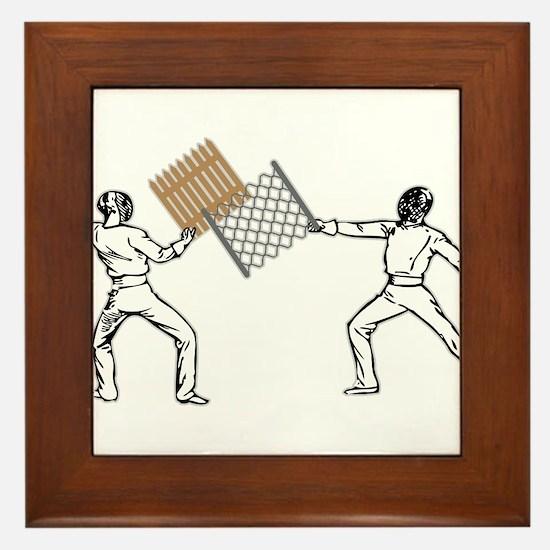 Fencing Framed Tile