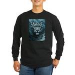 Snow Leopard Long Sleeve Dark T-Shirt