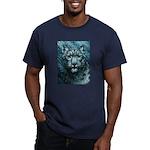 Snow Leopard Men's Fitted T-Shirt (dark)