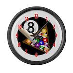 8-Ball Large Wall Clock