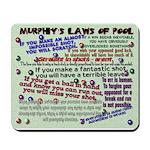 Murphy's Laws of Pool Mousepad