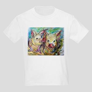 Pigs, colorful, Kids Light T-Shirt