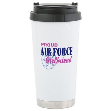 Proud Air Force Girlfriend Stainless Steel Travel